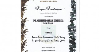 CGI among TOP 3 Best Performing Companies in Banten Provience, West Java